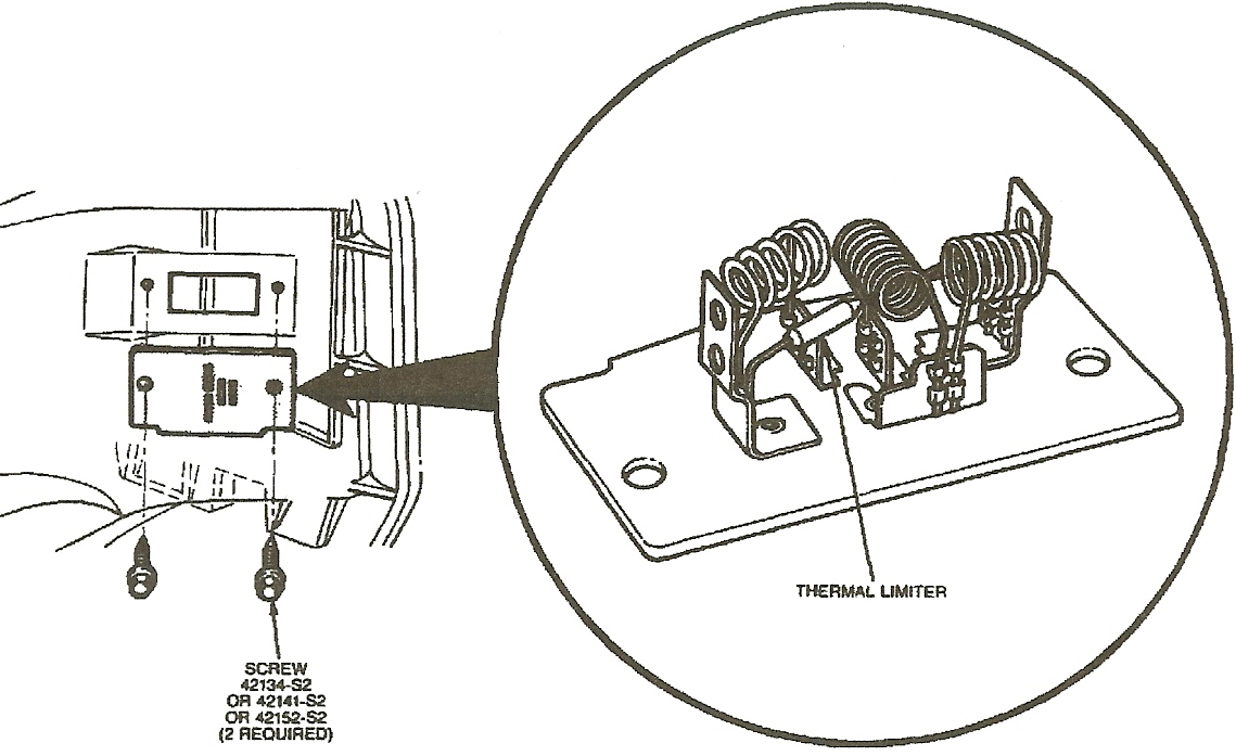 where is the variable load control module on a 1988 town car  the heater  ac fan blower won u0026 39 t
