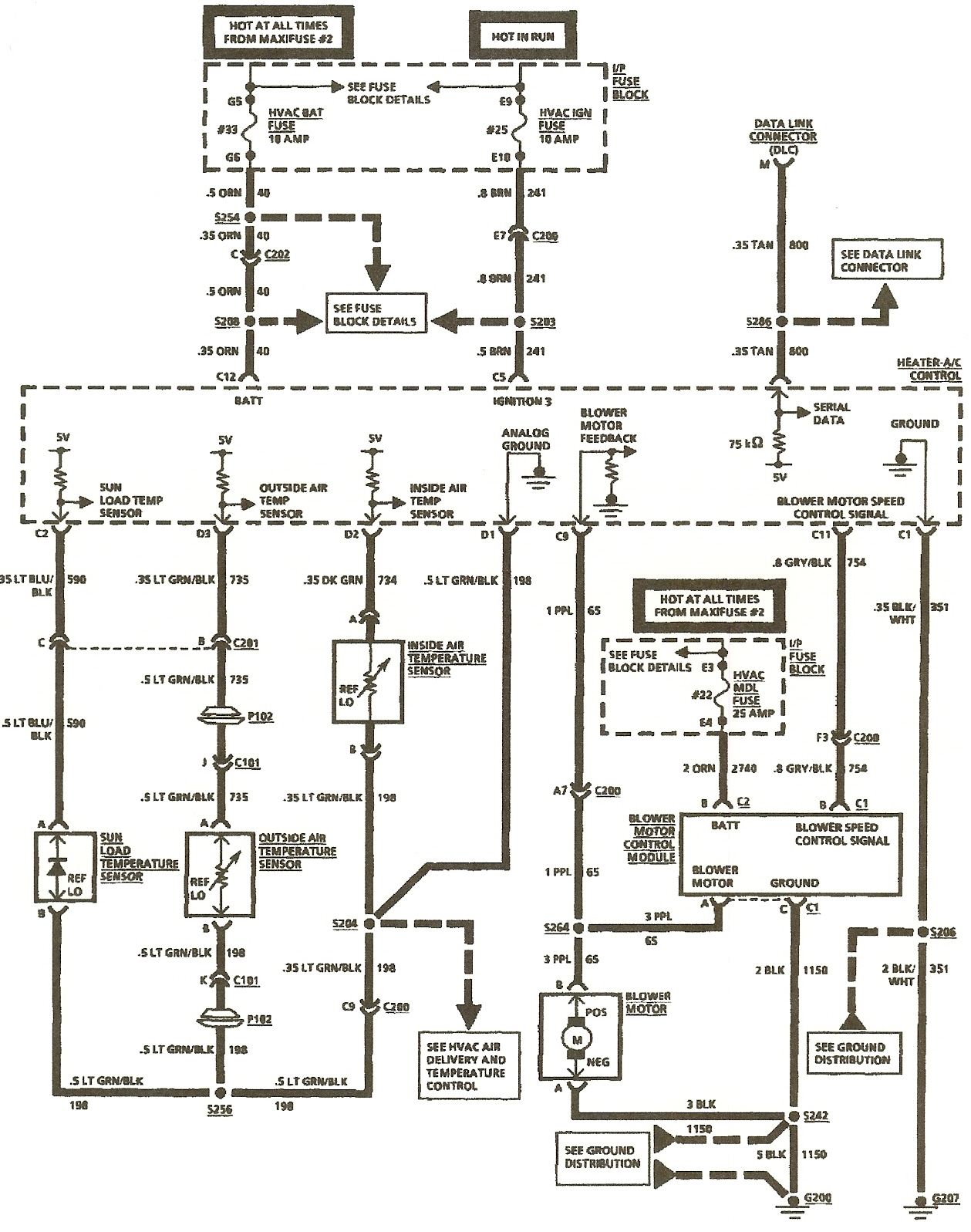 I need a wiring schematic for a 1994 Cadillac. Fleetwood a/c control head. JustAnswer