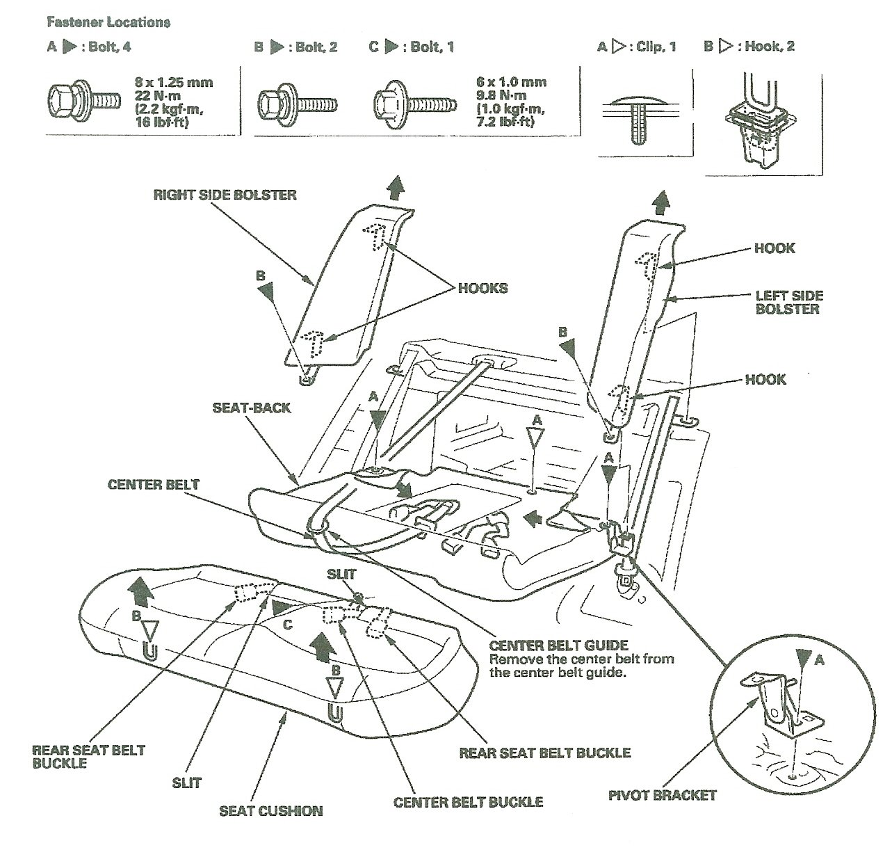 honda accord seat belt diagram