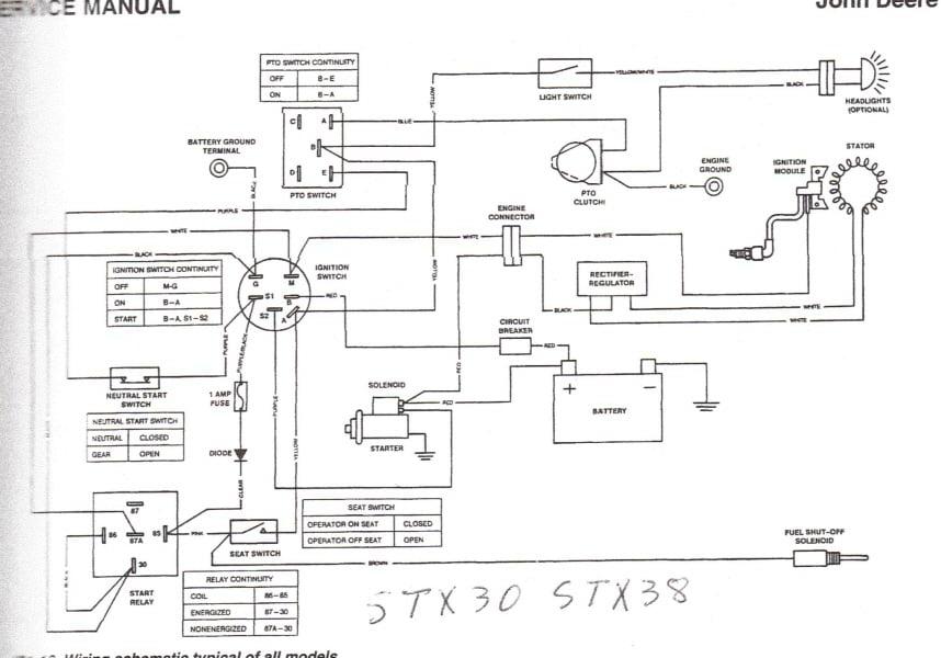 craftsman riding mower wiring schematic  | 400 x 300