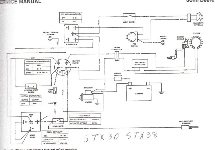 2013 02 25_052012_stx30 38 older jd sxt 38 with kohler engine no spark does the key control john deere stx30 wiring diagram at soozxer.org