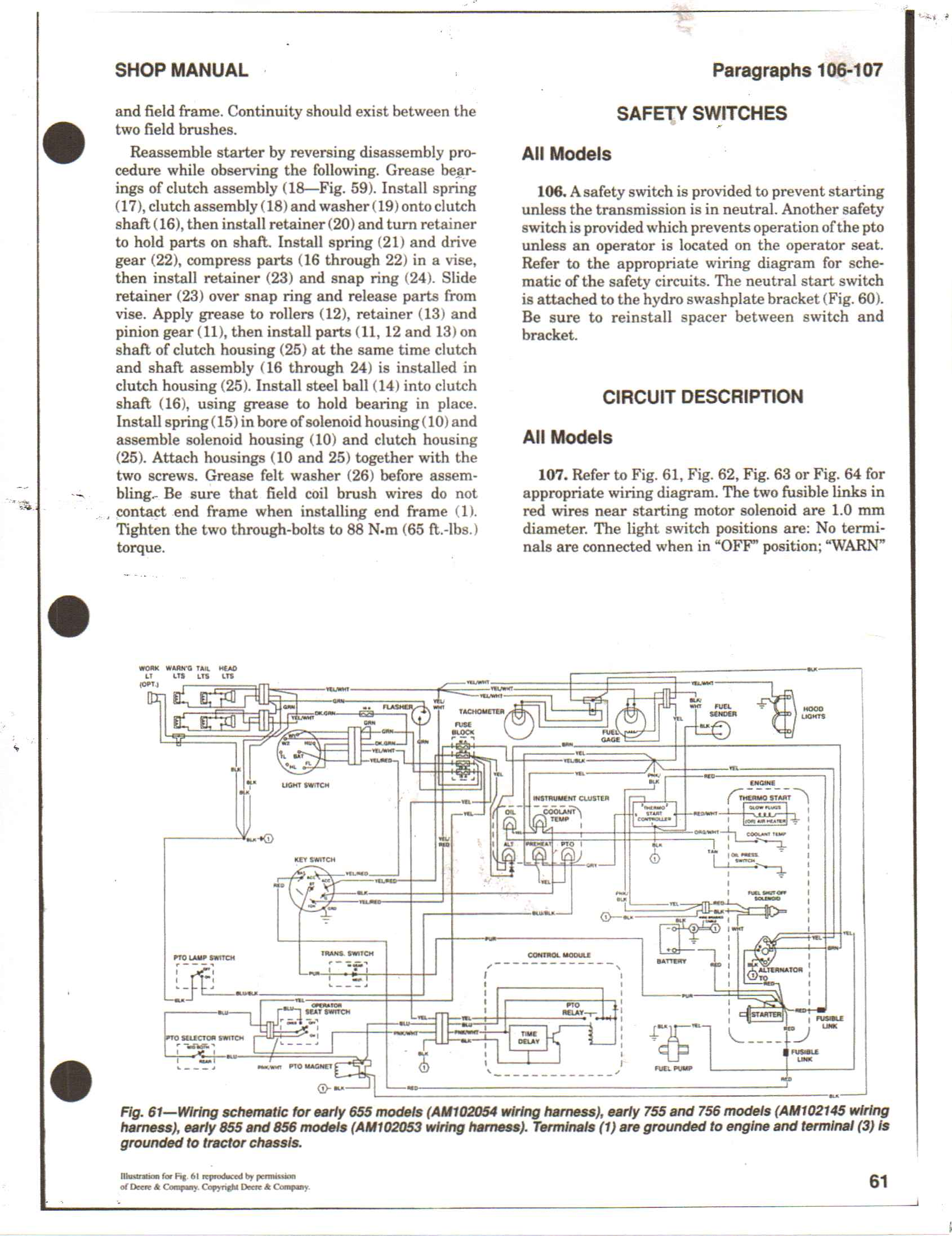 I Have A 755 Jonh Deere That Stopped Running It Is Not Gettin Power John Solenoid Wiring Diagram Full Size Image