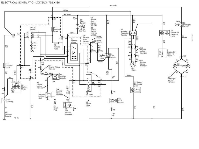 john deere 2010 wiring diagram for a light switch john deere a wiring diagram i have just bought a deere garden tractor model lx with a ... #5