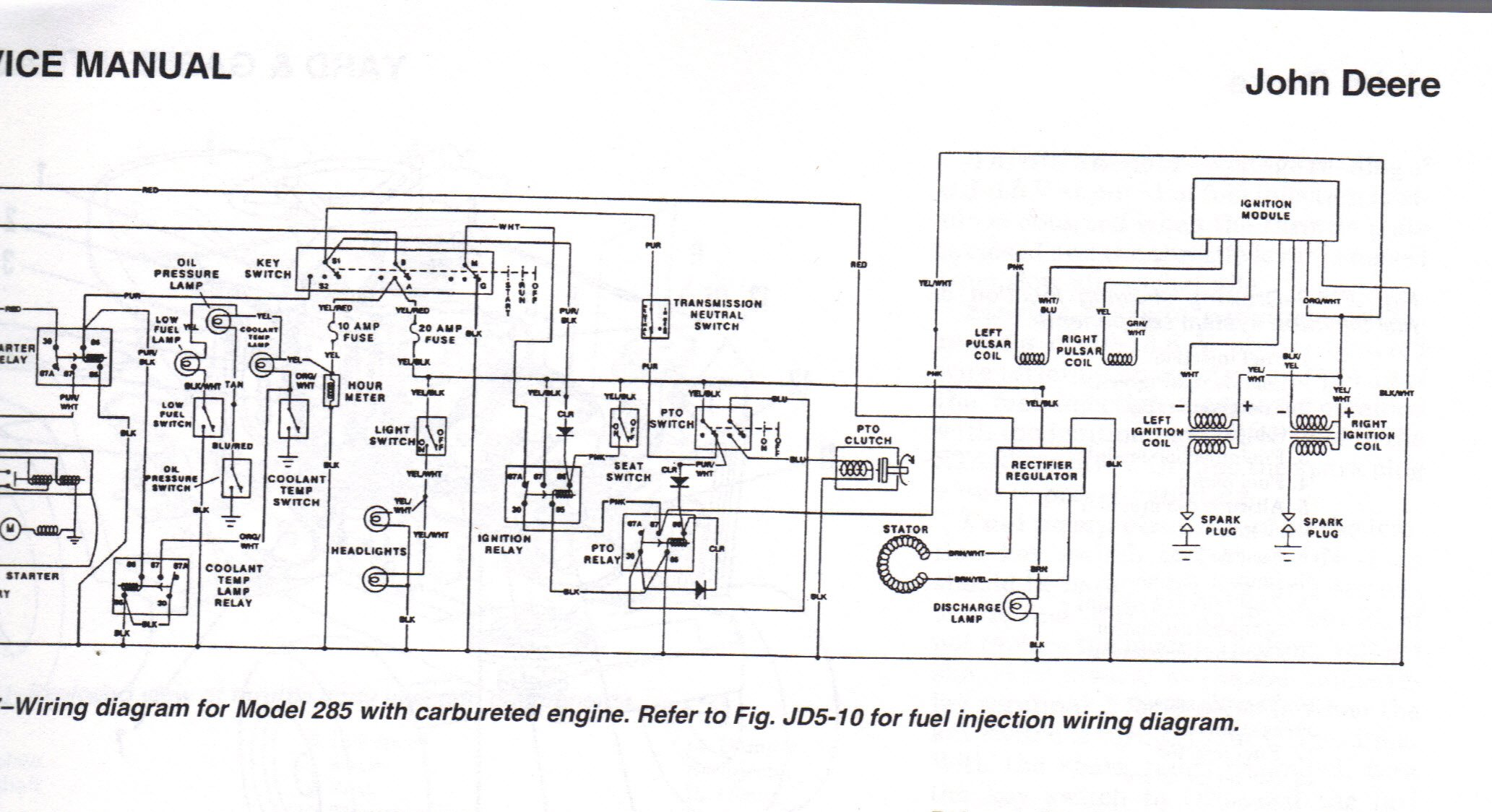 john deere f911 wiring diagram how do you wire a starter switch for a deere model 320 6 ...