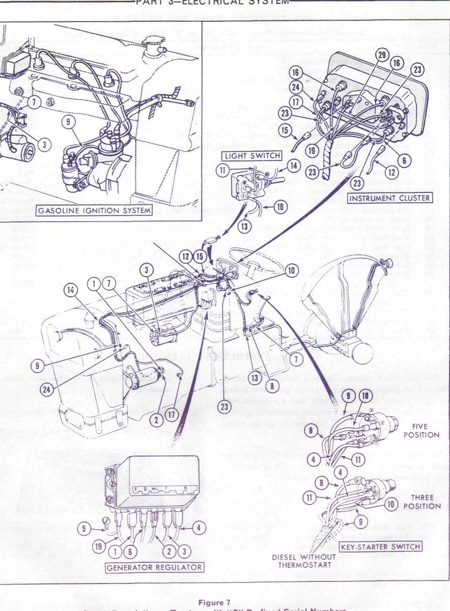 1964 Ford Tractor Wiring Diagram Blog About Diagrams Volkswagen What Wires Connect On The Back Of A 5 Plug Key Switch For