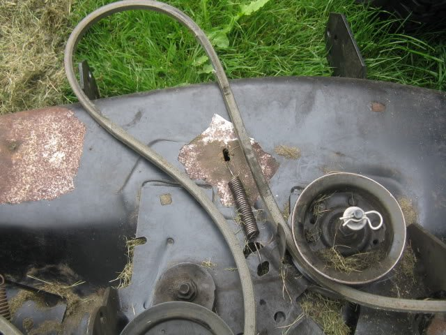 Craftsman 42 Mower Deck Cable : Craftsman riding mower model i just bought this