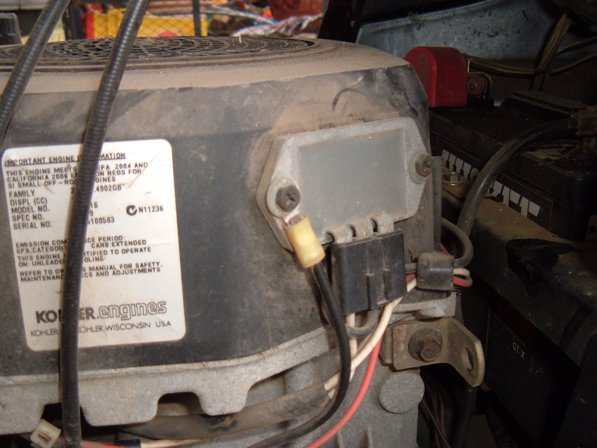 i have a cub cadet ltx 1040 that blows the 20 amp fuse as