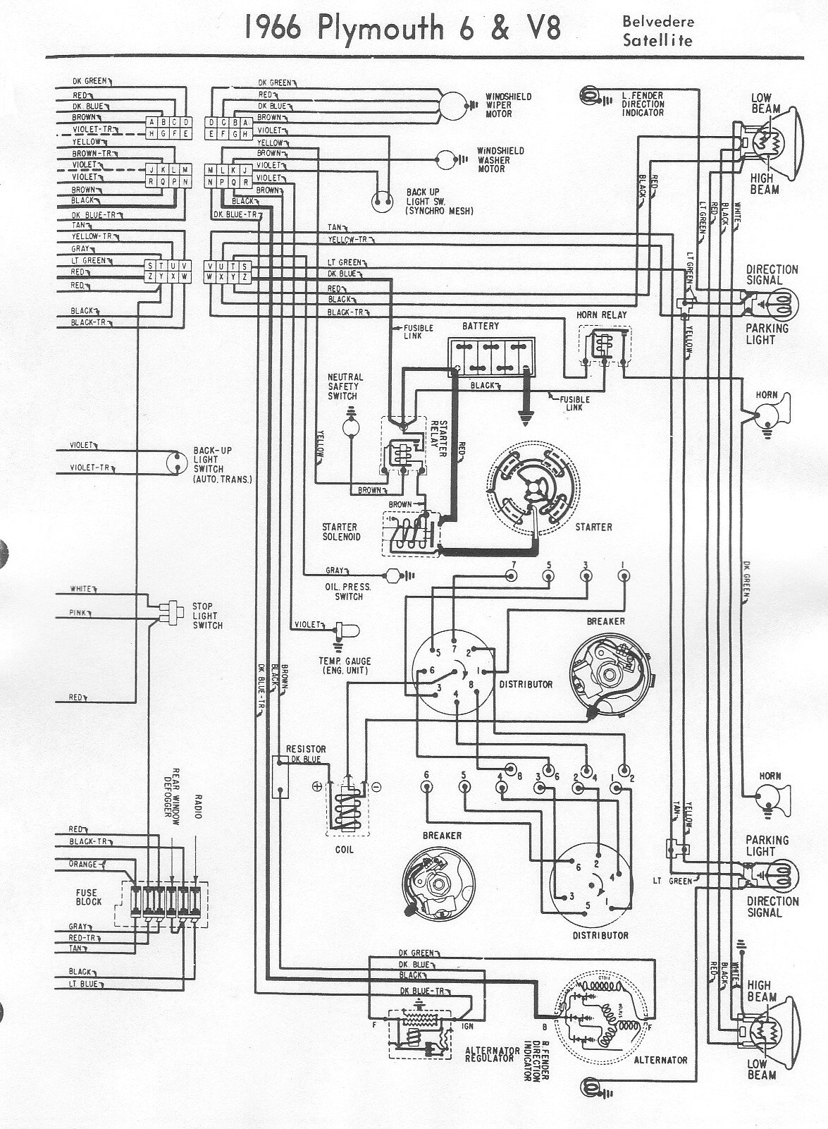 wiring diagram for 1999 plymouth voyager wiring diagram for 1966 plymouth barracuda i need a wiring lay out for a windshield wiper motor and ... #7