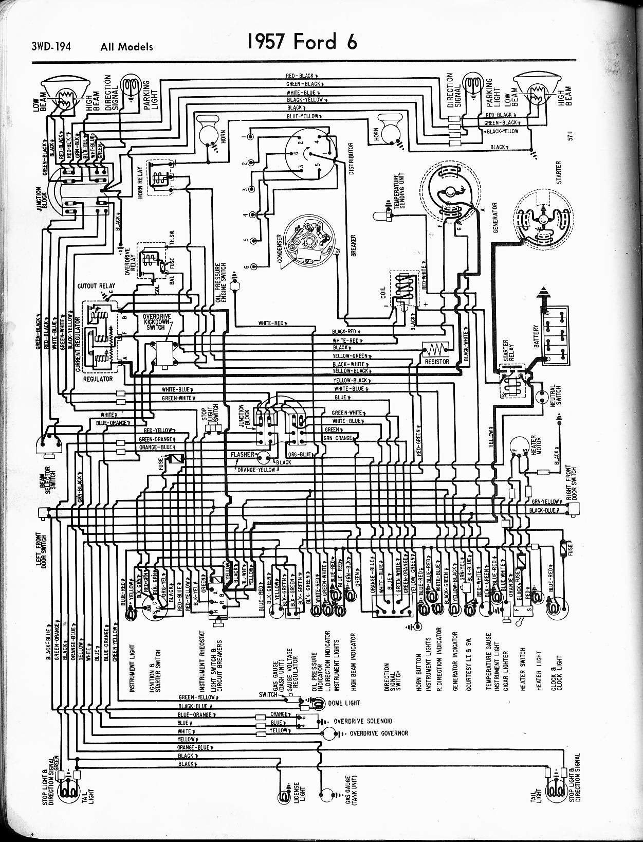 1954    Ford    Truck    Headlight       Switch       Diagram     Wiring    Diagram    Database