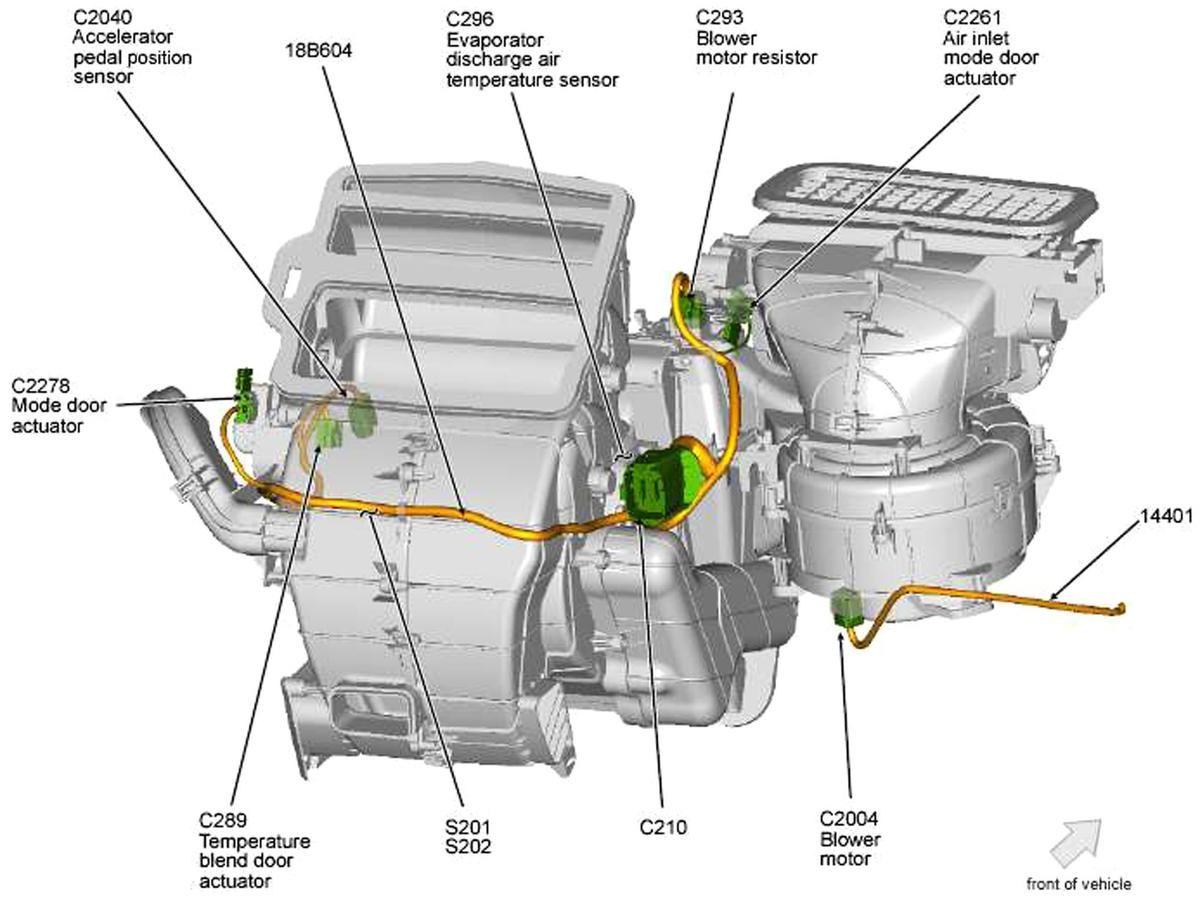 location of fan resistor on 2009 ford focus with single. Black Bedroom Furniture Sets. Home Design Ideas