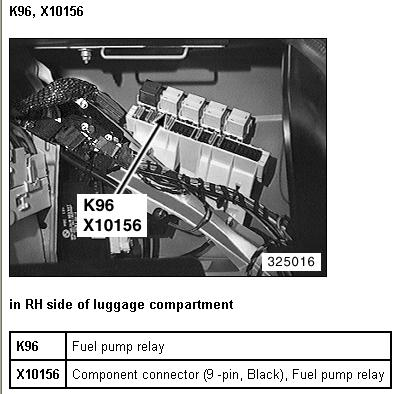Service manual  How To Check Fuel Relay On A 1996 Pontiac