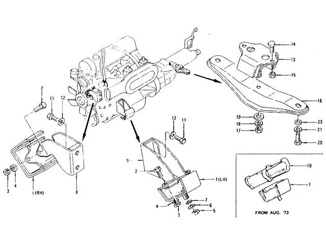 1973 datsun 240z i am reinstalling engine after having it rebuilt installed new motor mounts. Black Bedroom Furniture Sets. Home Design Ideas