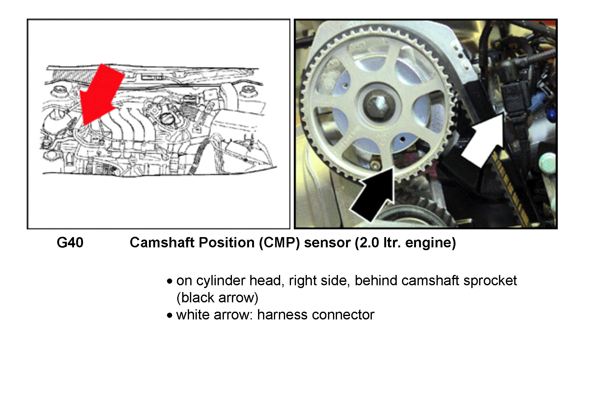 Where Is The Camshaft Sensor Located On A 2002 Vw Jetta 2 0  Also What Is Involvled In Replacing It