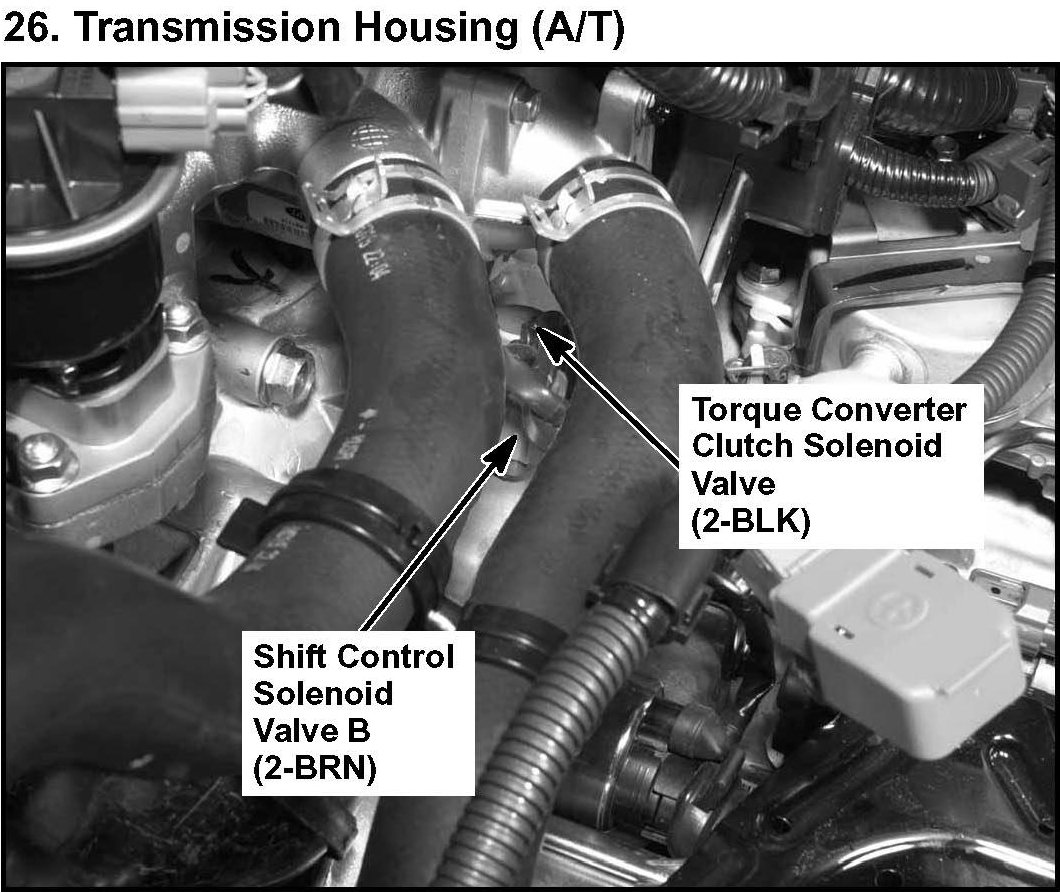 Where Is The Torque Converter Clutch Solenoid Located For