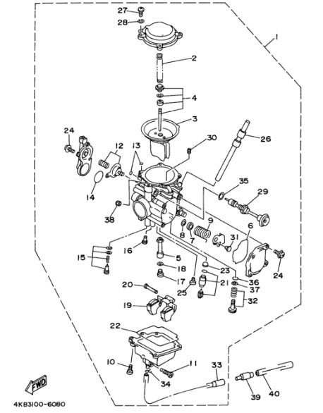 Wiring Diagram  30 Yamaha Wolverine 350 Carburetor Diagram