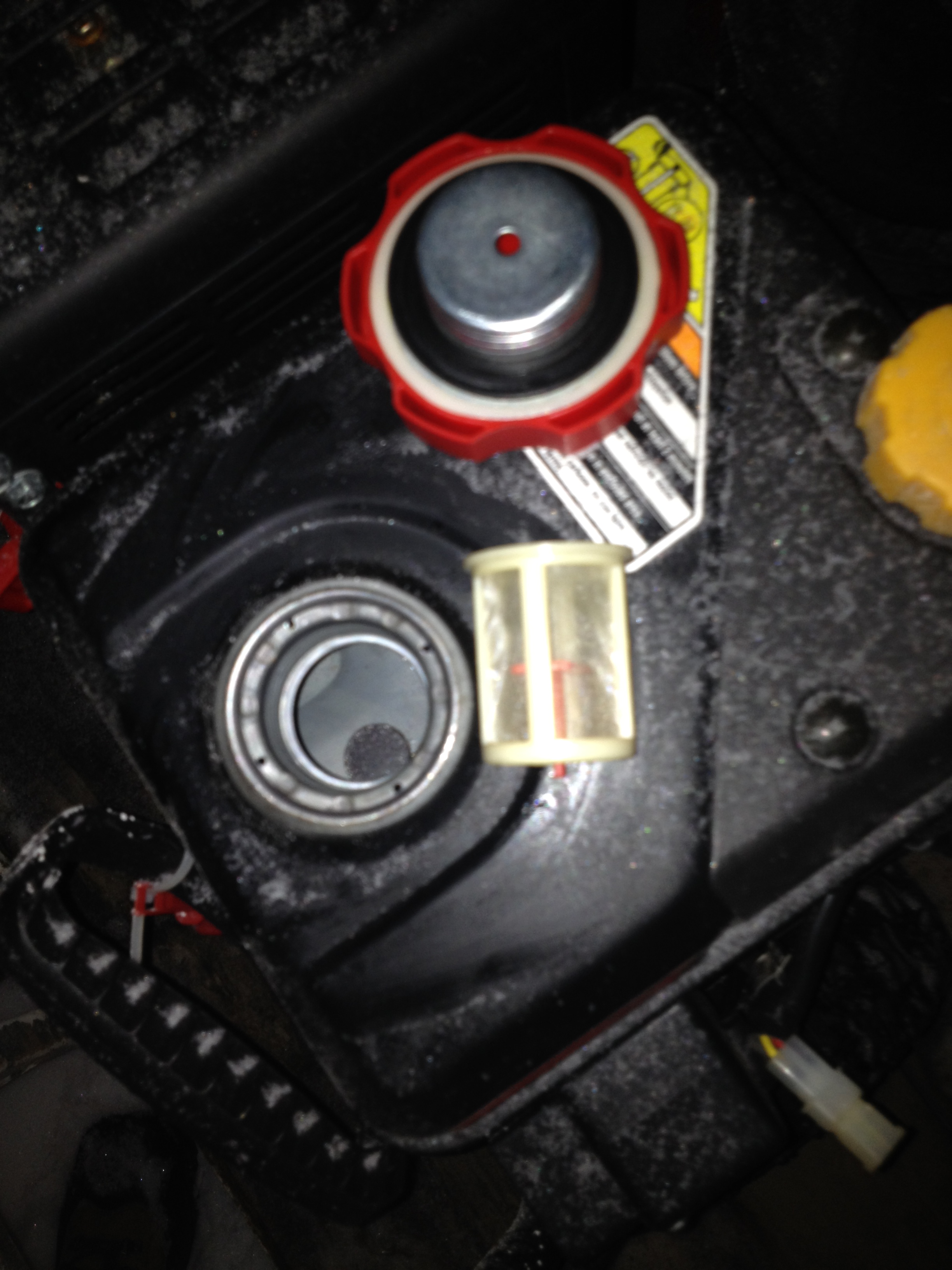 Gas cap leaking after engine starts