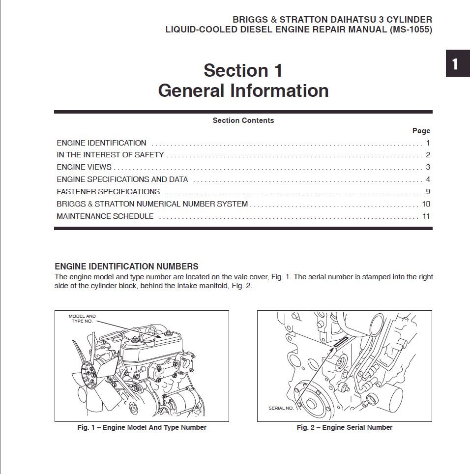 briggs and stratton serial number identification