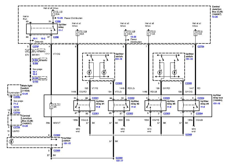 upfitter wiring diagram 2016 ford f350