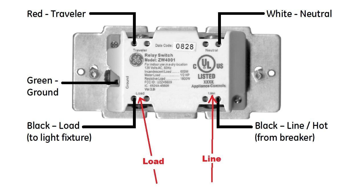 Im Trying To Replace A Single Onoff Switch With A New Jasco Z - Jasco Relay Switch