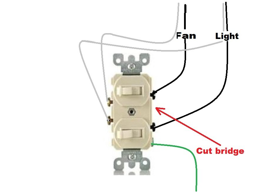 Bathroom Light And Fan Switch Wiring i have a bathroom with a light and separate fan. both have