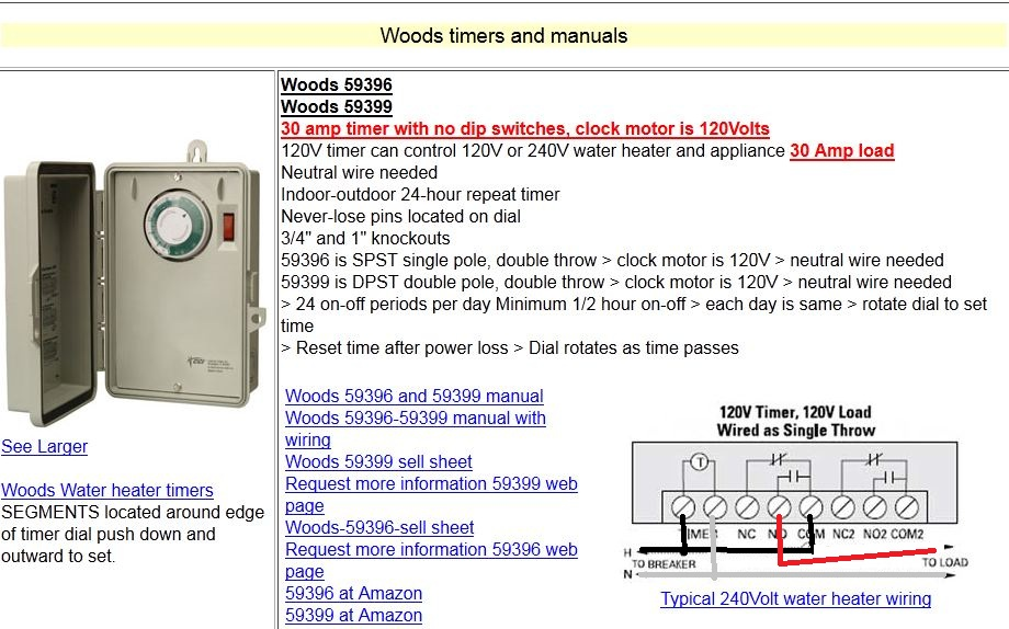 I Am Wiring A Woods Timer For A Pool  U0026gt  Woods Timer Model