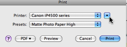 In The Print Dialogue Do You See An Arrow Next To Printer Name