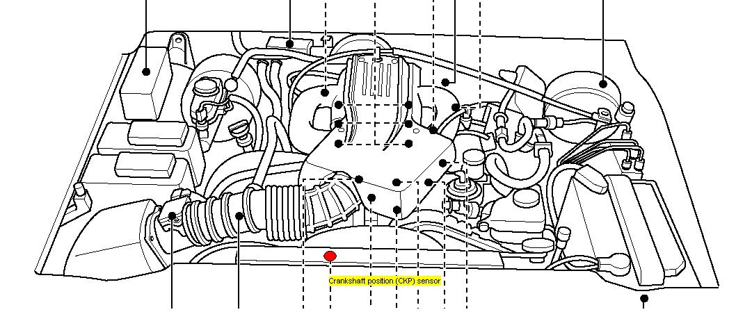Were Is The Crankshaft Sensor Located On A Ford Escape 2001 Model