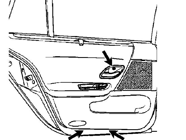 Renault laguna 2004 - removal of rear door panel