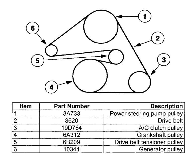 6ecng Ford Taurus Serpentine Belt Routing 2002 Ford Taurus on 2002 Ford Escape Parts Diagram