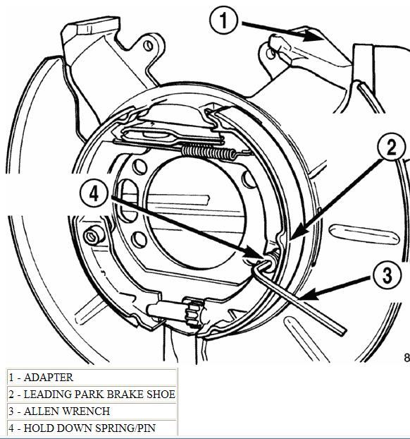 toyota tacoma parking brake wiring do you have a diagram of the emergency brake shoes, and ...