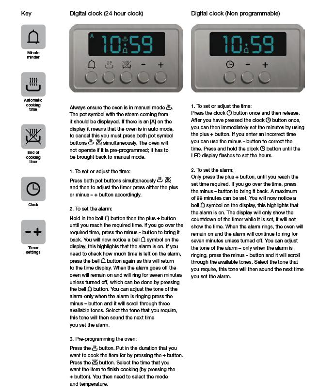 How Do I Set The Time On An Ive Gas Oven