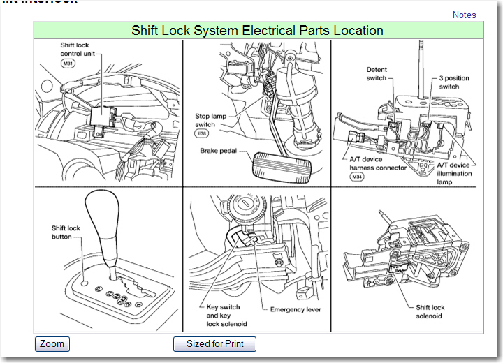 2013 Nissan Altima Shift Lock Solenoid Replacement ...
