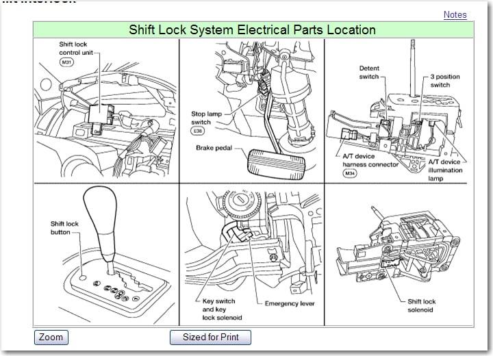 2013 Nissan Altima Shift Lock Solenoid Replacement ...