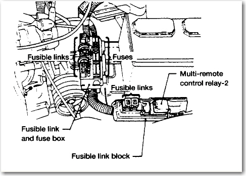 2012 Infiniti G37 Fuse Box Diagram furthermore Chrysler 300 3 5l Engine Diagram moreover Wiring Harness Diagram And Electrical Troubleshooting For 2001 Infiniti I30 A33 Series likewise Nissan Rogue Ac Relay Location furthermore Engine Diagram 03 Nissan 2 5l. on fuse box location 2003 nissan 350z