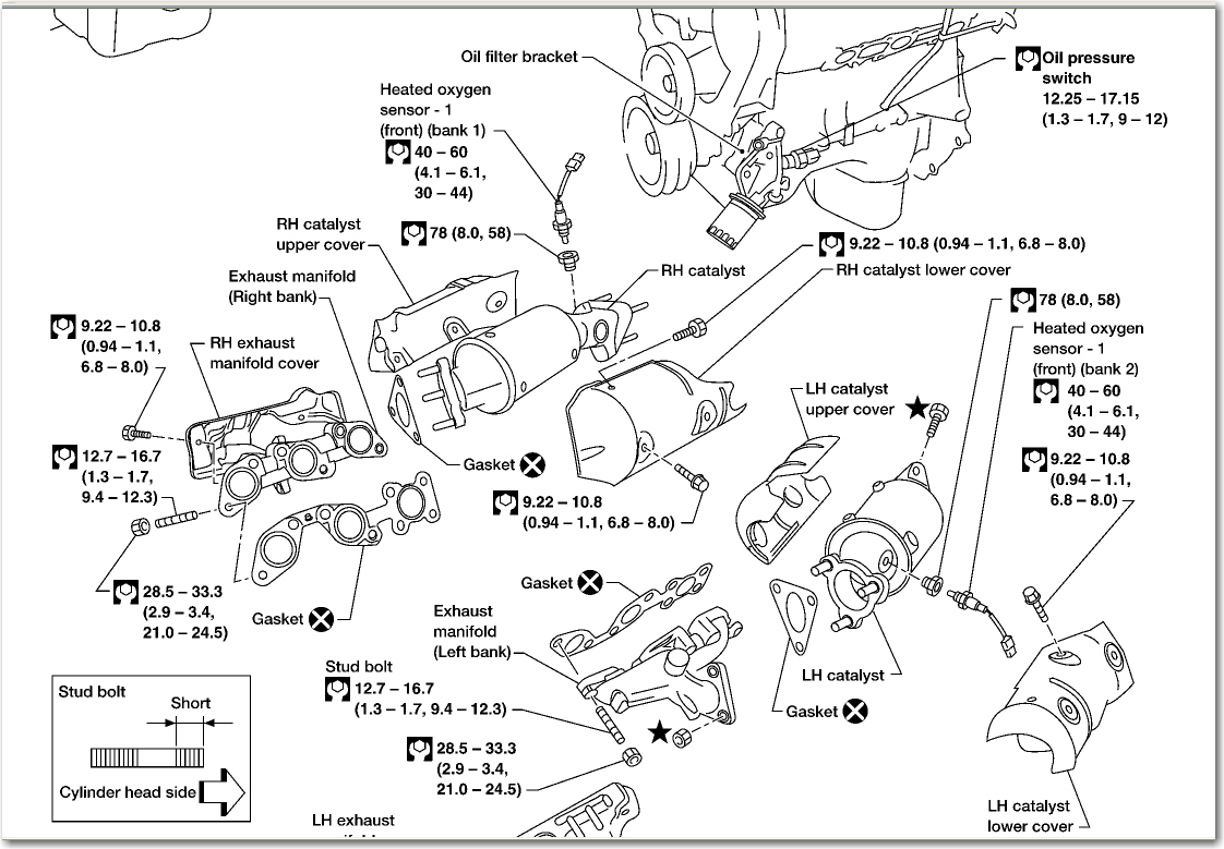 how to replace 2002 nissan frontier exhaust manifold and