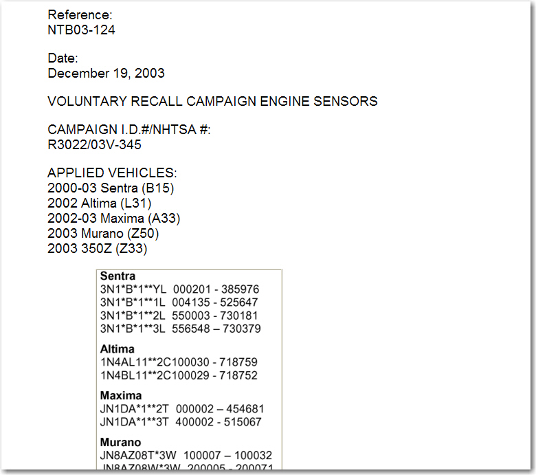 2002 Altima 3 5 6 Cyl P0011 And P0021 Codes Car Runs