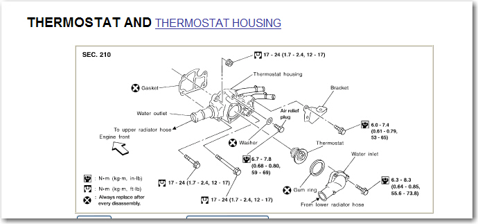 Need `How-To', changing thermostat, 2005 Sentra