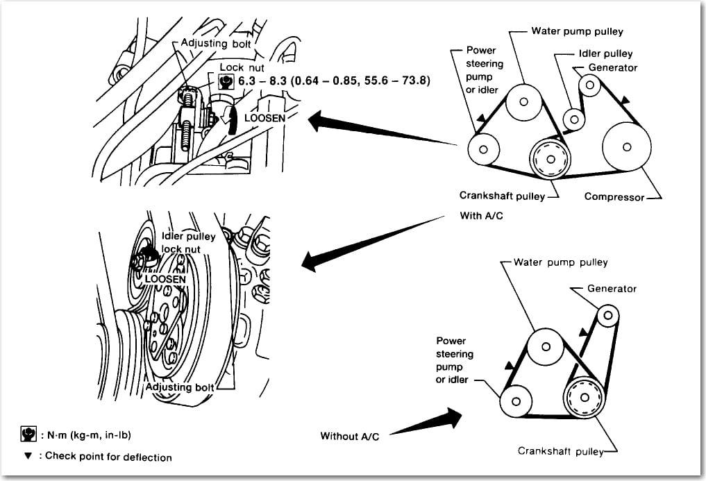 2001 nissan sentra belt tensioner