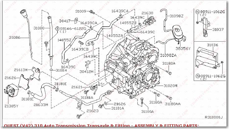 engine diagram for 2000 nissan quest