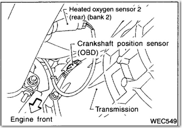 Where Is The Crank Sensor Located On A 01 Nissan Frontier 33rhjustanswer: 01 Nissan Xterra Camshaft Position Sensor Location At Gmaili.net