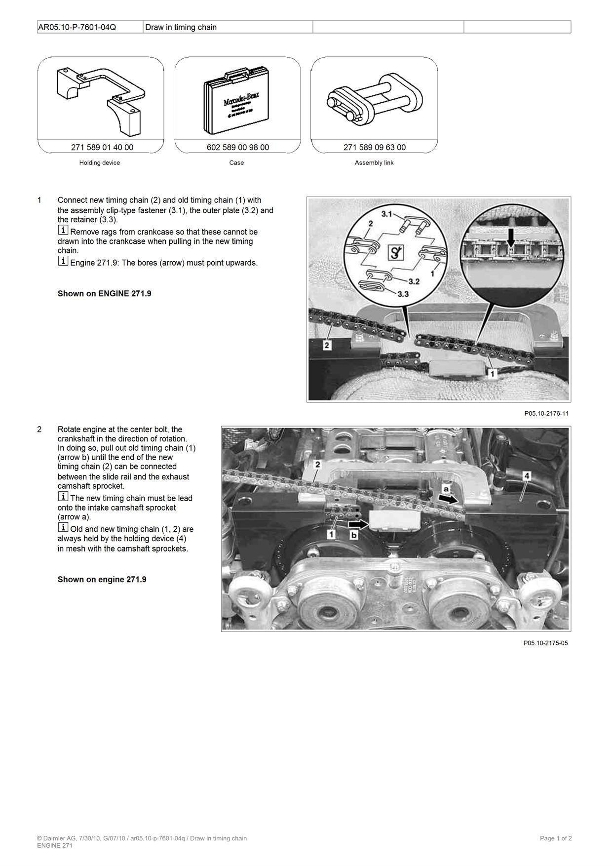 how to fix timingchin in c230 compresor