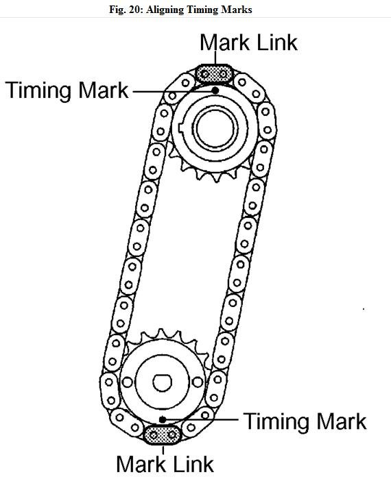 timing chain marks for a toyota tarago 2001 engine 2az