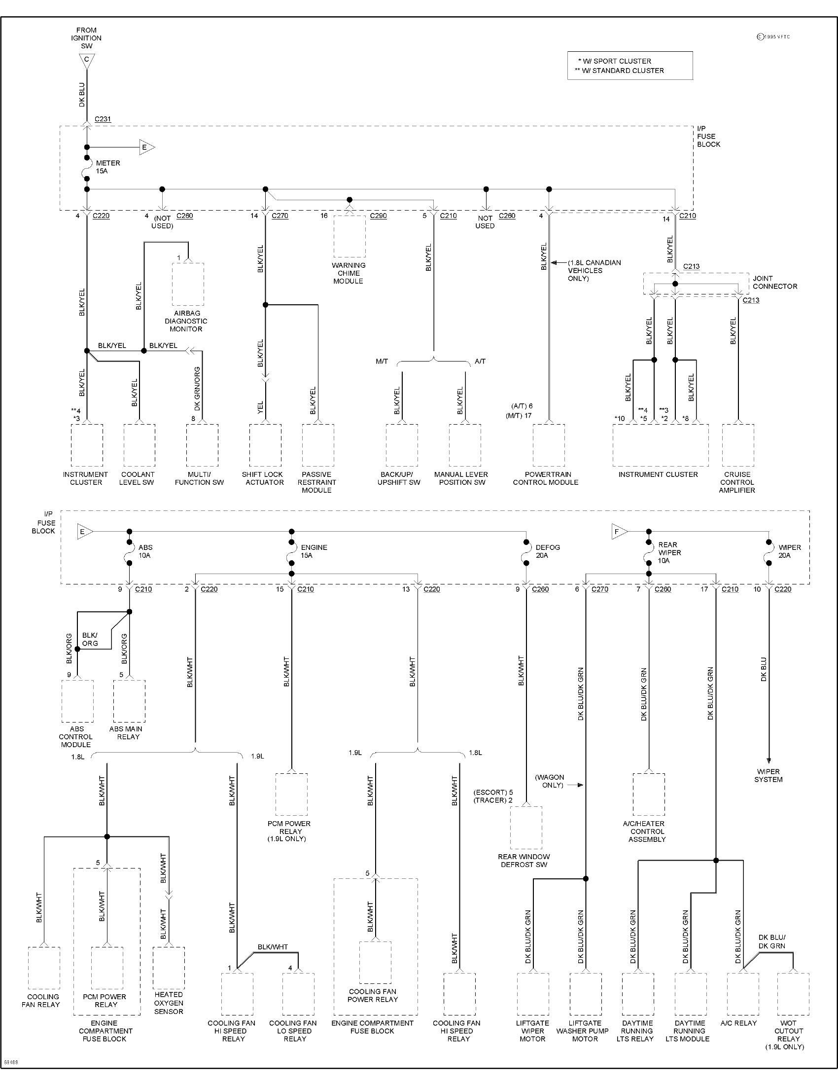 Abs Wiring Diagram Ford Zx2 Posts 1995 Escort Lx Having Electrical Problem Buss Quite Working 00 Ranger