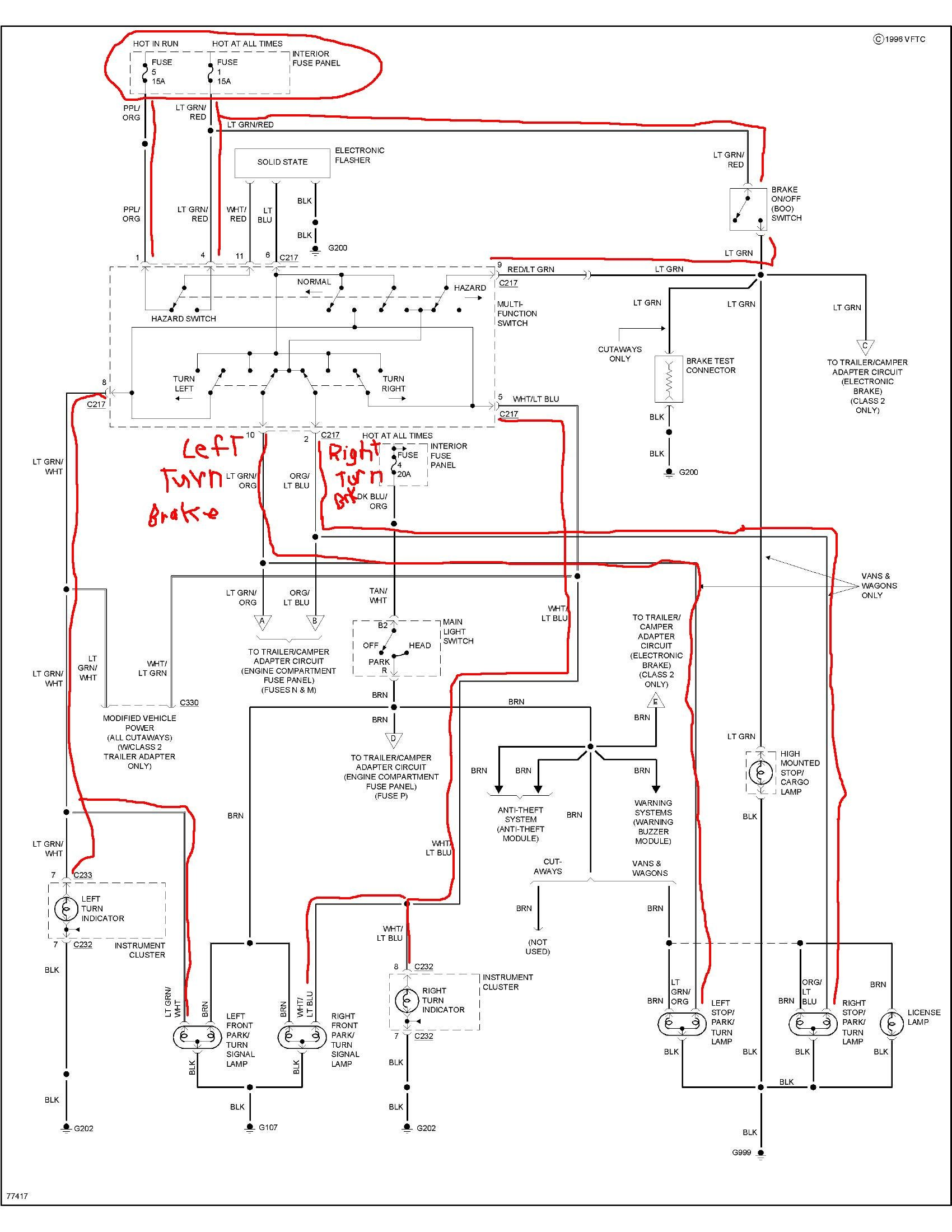 e350 wiring schematic i have 1 1996 e350, club wagon 7.5l. signal lights stopped ...