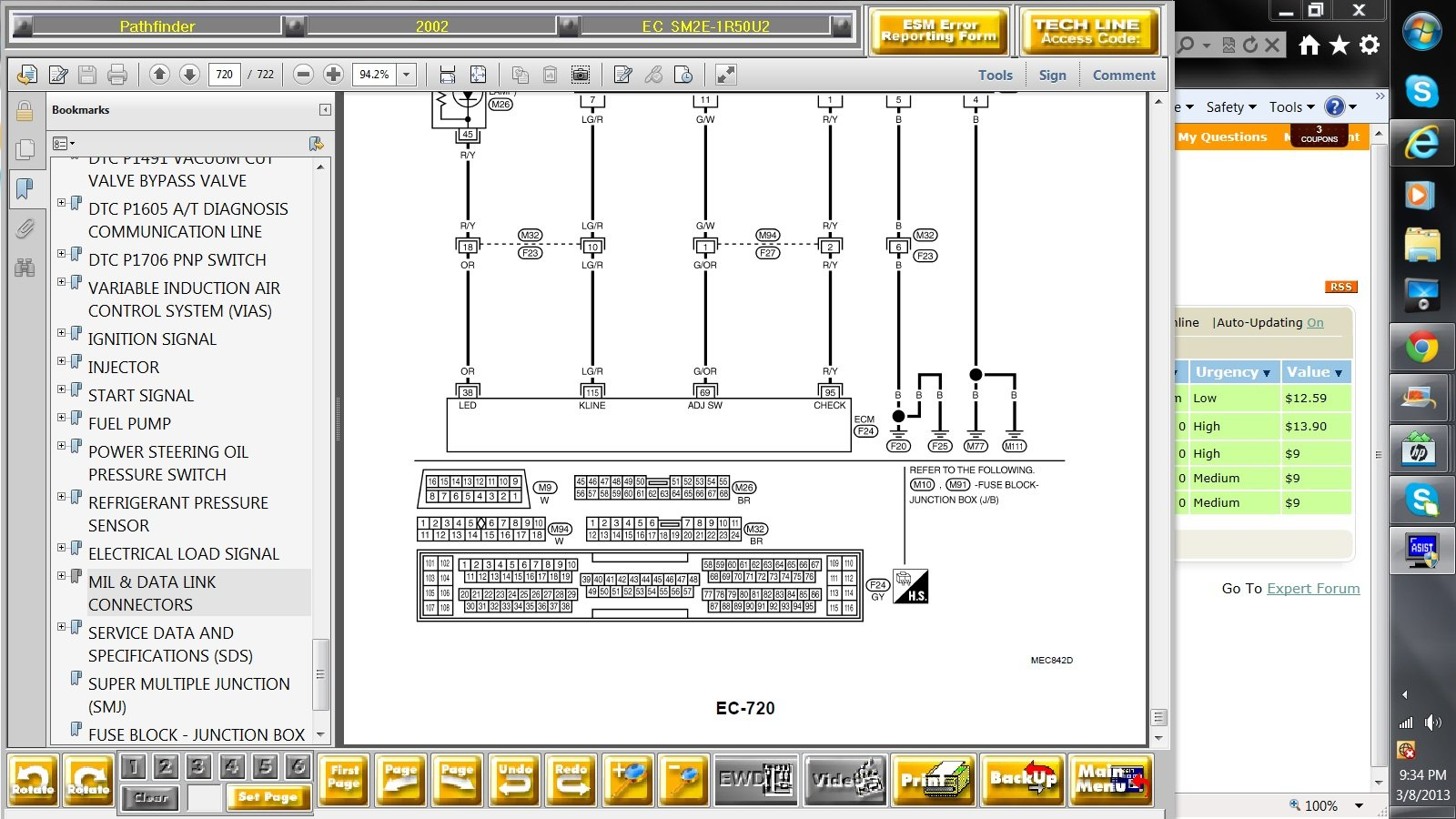 2002 Nissan Pathfinder Abs Light Has Been On For A Time But Now The 2007 Frontier Wiring Diagram Full Size Image