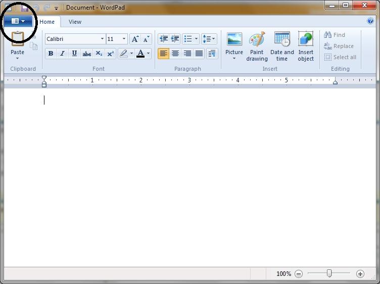 wordpad 2012