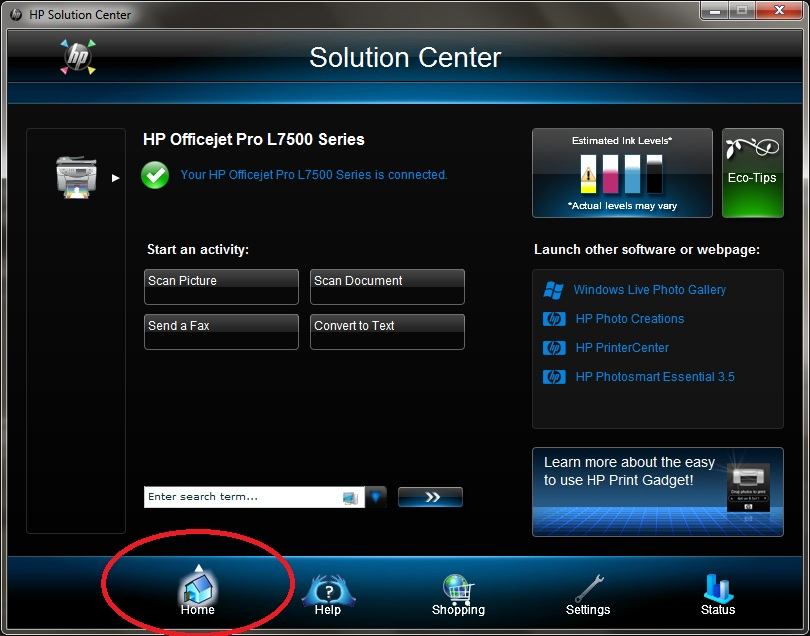 Hp solution center download for windows xp.