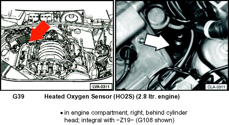 Where Is Oxygen Senser Bank 1 Sensor 1 Located On A 2004
