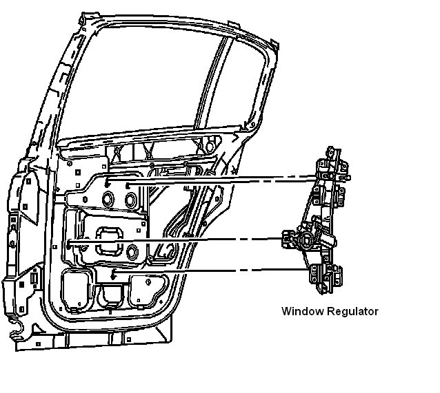 On A 2003 Saturn Ion The Rear Driver Side Window Mechanism Has Come Loose From The Motor The Motor Still Seems To Work