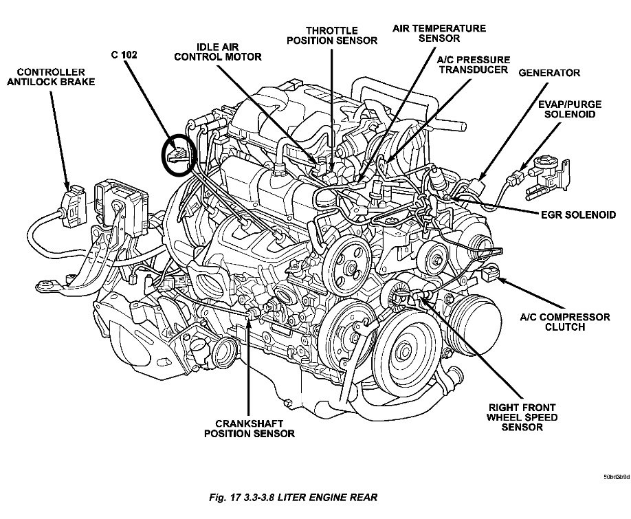 pcm chrysler town and country parts diagram  chrysler